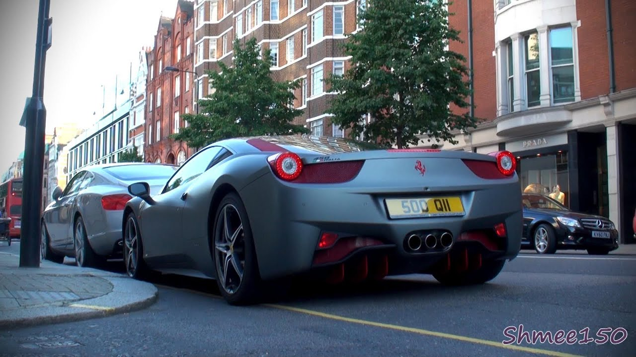 matte grey ferrari 458 italia with red highlights overview and combo with white 458 youtube - Ferrari 458 Italia Matte Grey