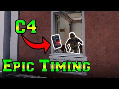 Epic IQ Timing on C4 - Rainbow Six Siege