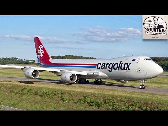 Cargolux Boeing 747-8F  LX-VCL | Joe Sutter – Father of the Boeing 747 | Luxembourg Findel Airport