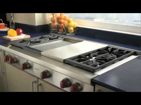 Wolf sealed burner rangetop product line youtube - Gas electric oven best choice cooking ...