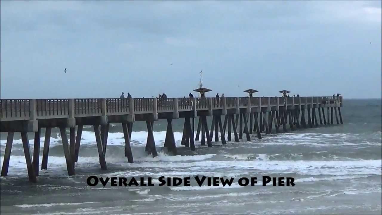 Jacksonville beach ocean fishing pier youtube for Fishing report jacksonville fl