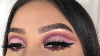 Berry Mauve Glitter Cut Crease   Jocy Reyes