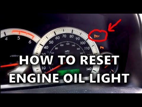 How To Reset An Engine Oil Service Light On Chevrolet