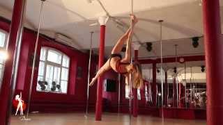 Видеоуроки Школы pole dance Exotic Dance. Урок 10: Вис на плече.
