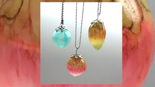 Translucents hollow beads- liquid polymer clay (liquid Fimo)...