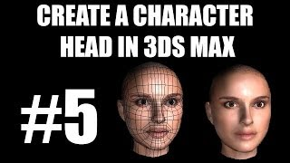 3ds Max Tutorial - Part 5 - Human Character Head Modelling of Natalie Portman