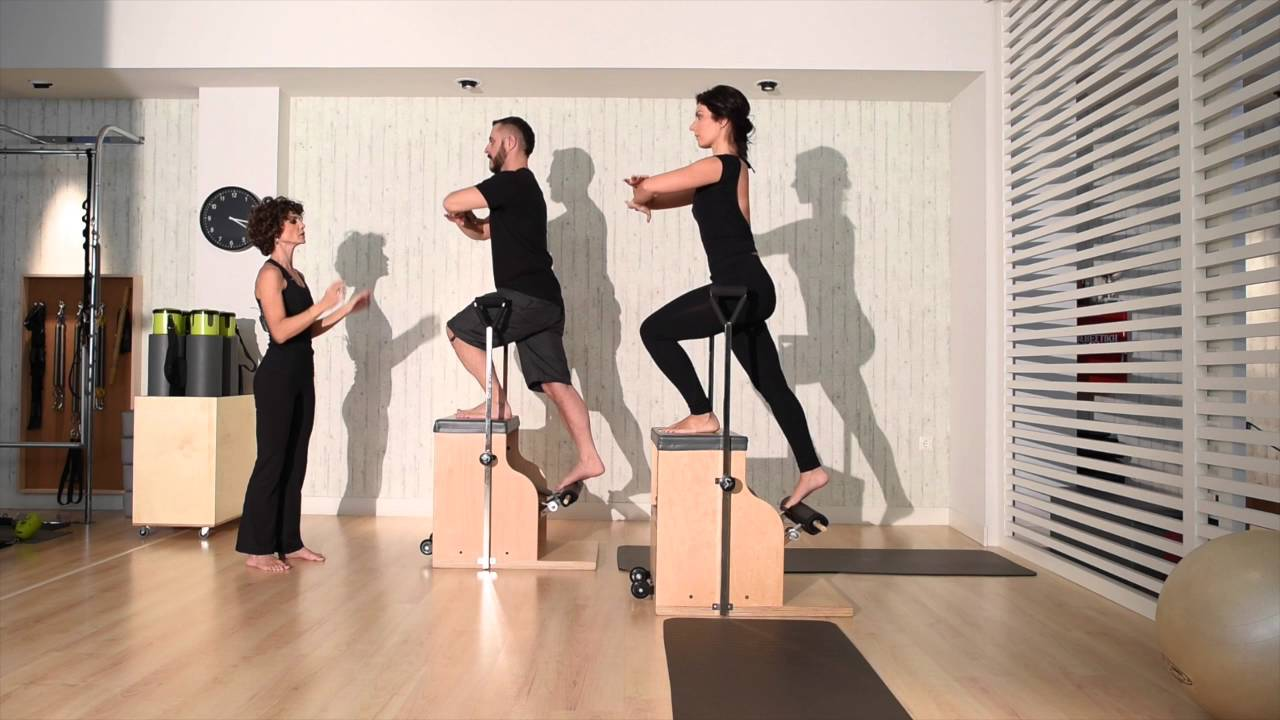 Balanced body pilates chair - Lunges On The Pilates Chair