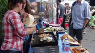 "Freshly Grilled Fish - A Mediterranean Inspired ""street Food"" Stall In Camden Lock Market, London."