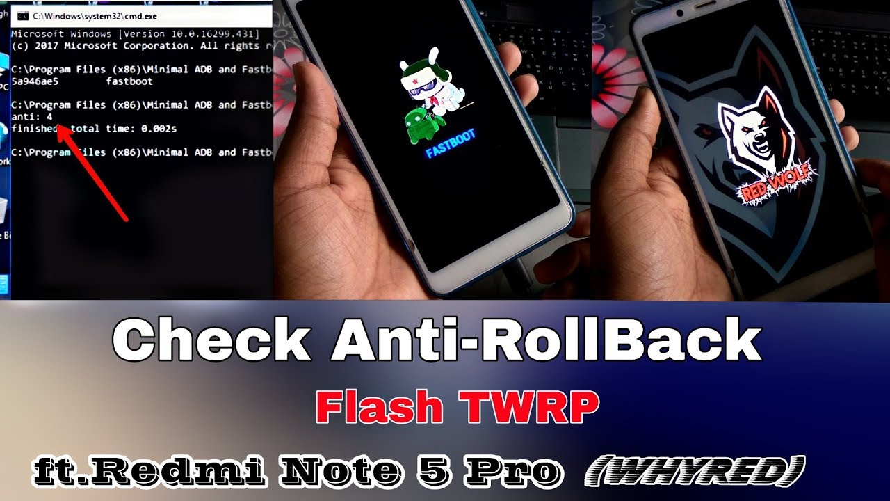 check anti-rollback on any redmi phone| Install TWRP| ft Redmi Note 5 Pro