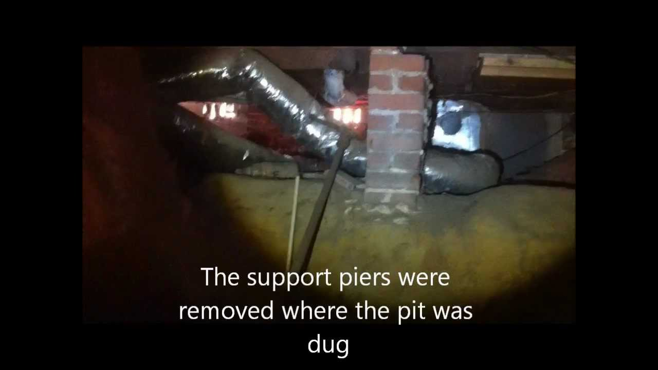 Improperly Excavated Crawl Space YouTube - Digging basement cost