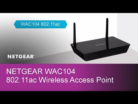 NETGEAR AC1200 Dual Band Wireless Access Point WAC104-100NAS