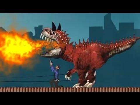 Динозавр Рекс в Париже СПАСАЙСЯ КТО МОЖЕТ! Мультик игра / Paris Rex