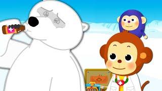 [애니멀 닥터] 북극곰 1~2편 연속보기 | 애니멀 닥터의 북극곰 치료하기! | 북극곰의 특징 | 어린이 동화 연속보기★지니키즈