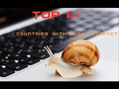 Top 10 countries with Slow Internet