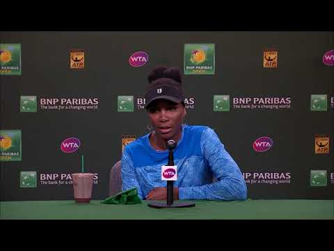 BNP Paribas Open 2018: Venus Williams 2R Press Conference