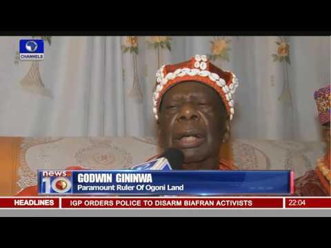News@10: FG Set To Begin Clean Up Of Ogoni Land 31/05/16 Pt.1
