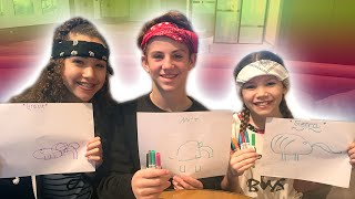 Blindfold Drawing Challenge with MattyB!