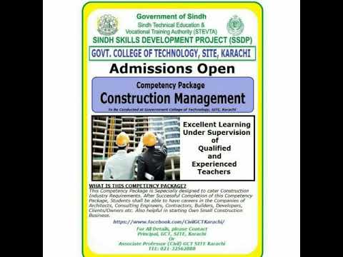 Free Seminar on Construction Management Competency Based Training at GCT SITE Karachi