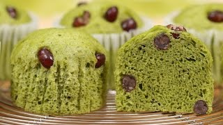 Matcha Mushipan (Steamed Green Tea Cake Recipe) | Cooking with Dog thumbnail