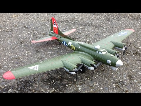 Scale Take-Off and Landing with E-Flite UMX B-17 Flying Fortress Bomber with AS3X Technology