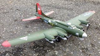 scale take off and landing with e flite umx b 17 flying fortress bomber with as3x technology