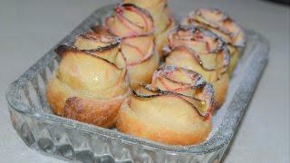 Медовые розочки - яблоки в слоеном тесте. Домашние рецепты.