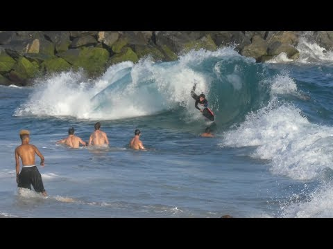 The Wedge, CA, Surf, 8/12/2017 pm - Part 3 (4K@30)
