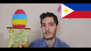 Eating Philippines Oishi Salt n Vinegar Chips