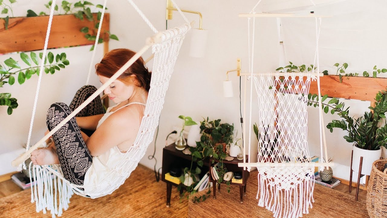 Diy A Gorgeous Boho Macrame Chair Youtube