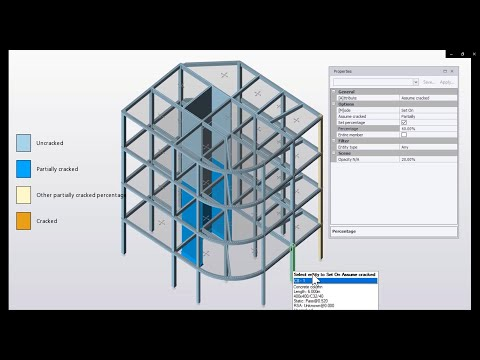 Partially Cracked Concrete Members in Tekla Structural Designer