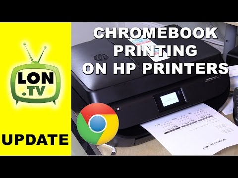 How to Print to HP Printers with Chromebook / Android with Google Cloud Print