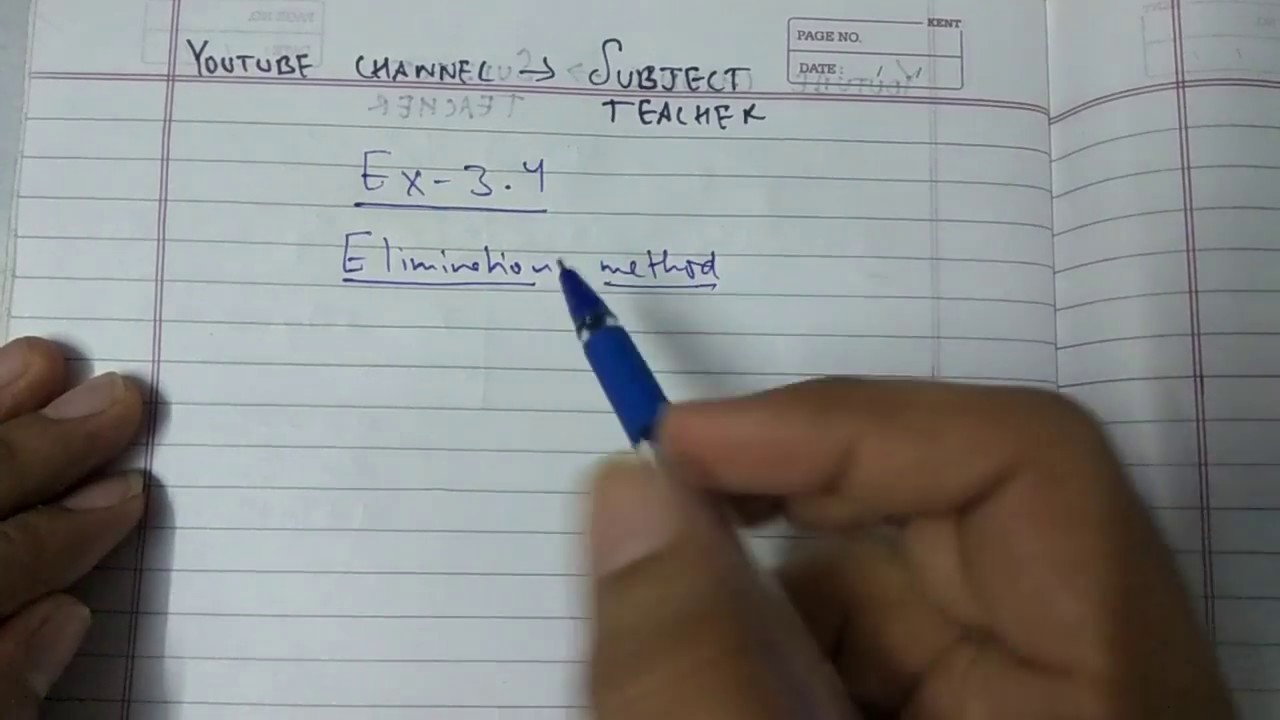 Chapter 3 exercise 3 4 pair of linear equations in two variables maths  class 10 (N C E R T)