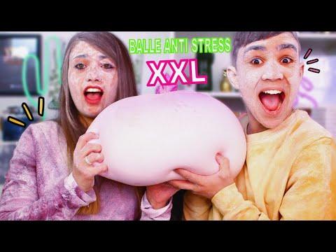 MAKING GIANT STRESS BALL ?!! Jonathan Et Amandine