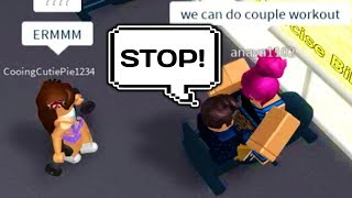 CRAZY GIRL RUINS MY ROBLOX FITNESS CENTRE WORKOUT!
