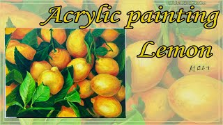 Acrylic painting with Lemon/아크…