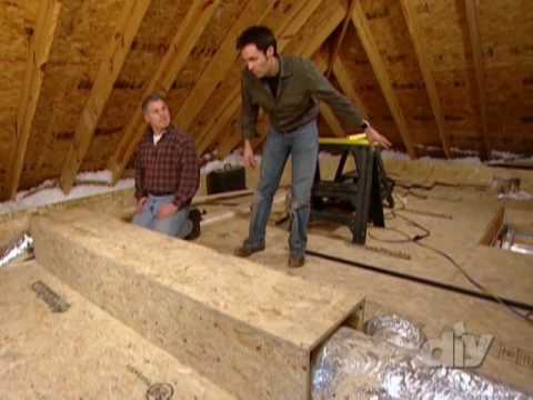 Create Attic Storage Space Diy Network Youtube