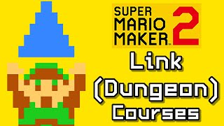 Super Mario Maker 2 Top 3 LINK - DUNGEON Courses (Switch)