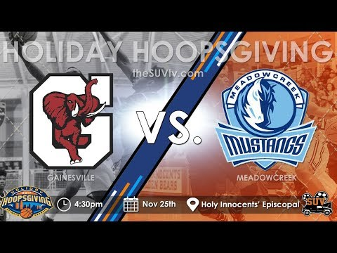 2017 Holiday Hoopsgiving: Meadowcreek (GA) vs. Gainesville (GA) - (Jamir Chaplin vs. KJ Buffen)
