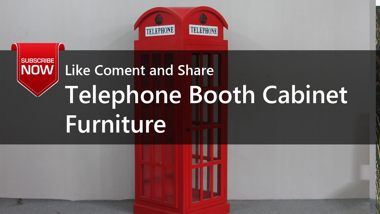 Telephone Booth Cabinet Furniture - YouTube