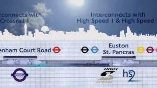Crossrail 2 animated fly-through