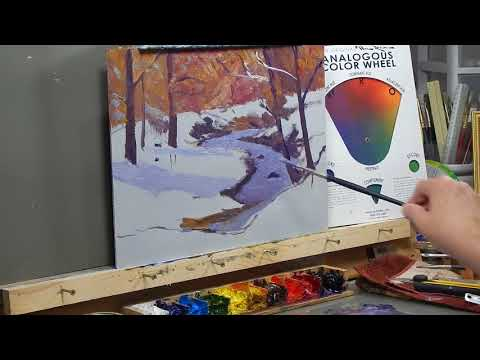 TomFisherArt 75 Oil Painting Snow and Stream
