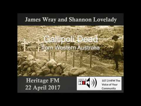 James Wray interviewing Shannon Lovelady on Heritage FM, 22 April 2017