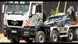 MAN TGS Roll off tipper! CONTAINER TRUCK! ScaleART! Roadworker Urmitz! OVERLOADED RC TRUCK