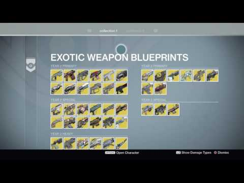 All destiny exotic weapons