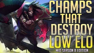 10 Champions that CARRY Low Elo in Season 8 for Every Role (w/ timestamps)