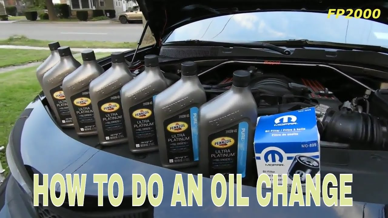 oil change dodge charger rt scat pack  hemi srt pennzoil youtube
