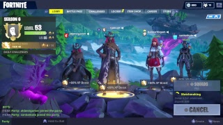 Fortnite season 6 with calamity skin level4 road to max ps4 player
