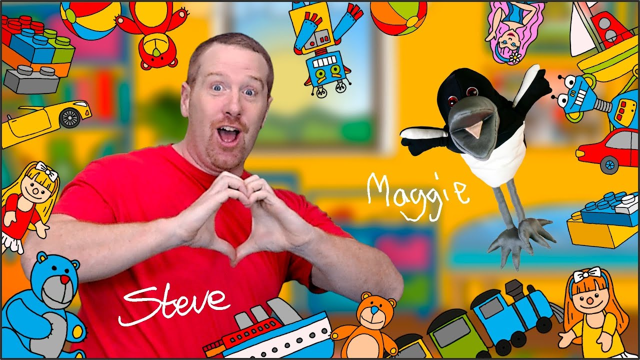 Steve and Maggie Toy Game | Let's Play with Toys on Wow English TV for Kids  App - YouTube
