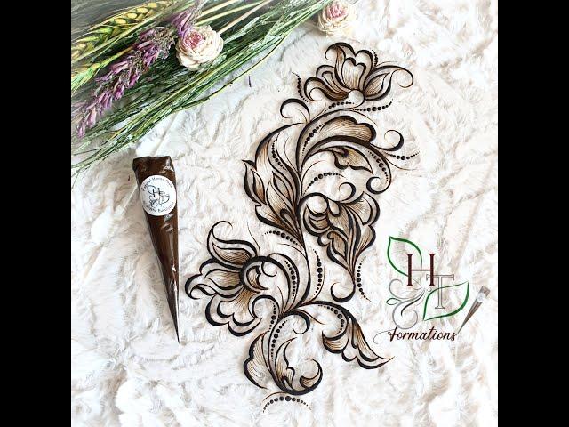New henna design 2021, step by step ! Nouveau modèle de henné, étape par étape