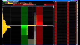 Live Trading 10.02.13 - ES futures using market profile and internals